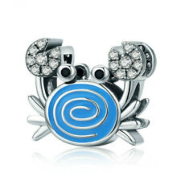 Jewelry - Silver CRAB Charm Bead